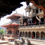 vue du durbar square à kathmandu